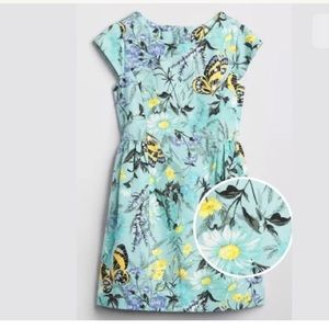 Gap Girl XS 4-5 Light Blue Floral Butterfly Dress